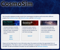 CosmoSim Database for cosmological simulations released